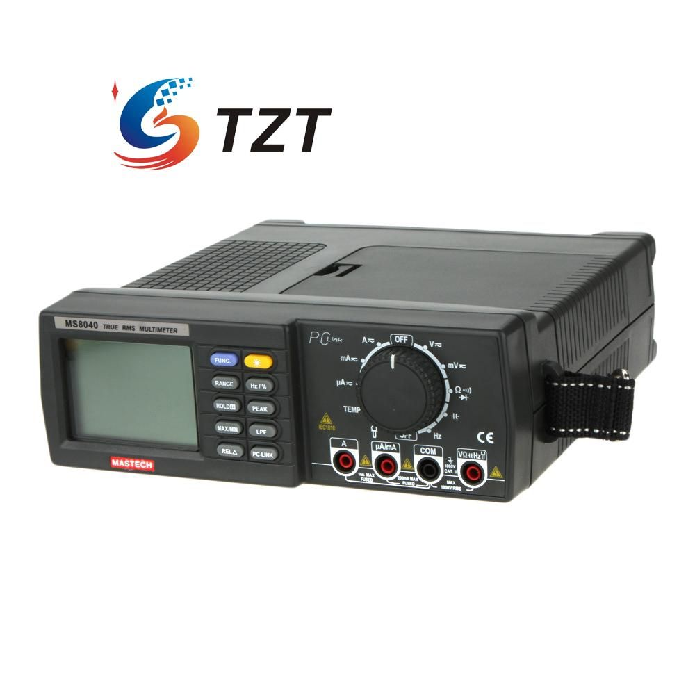 Digital Multimeter 22000 Counts AC DC Voltage Current Auto Range RMS Low-Pass Filtering MASTECH MS8040