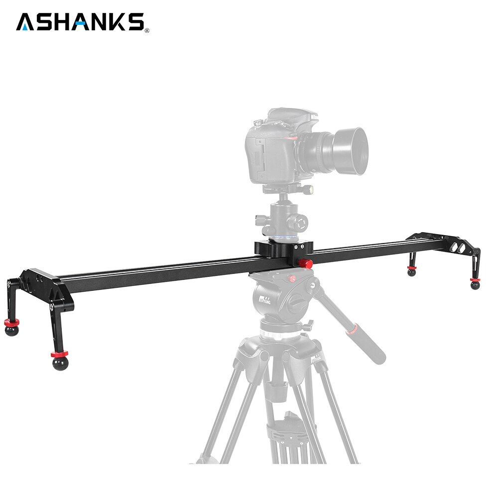 ASHANKS DSLR Camera Slider Aluminum Damping Track Rail Sliders System Video Stabilizer for Vlog Camcorder Youtube Photo Studio