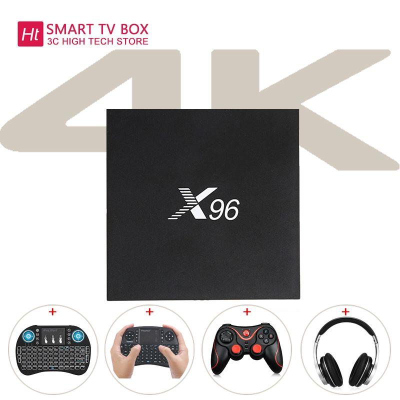 X96 Amlogic S905X Quad Core Android 6.0 TV Box 4K 2GB 16GB 2.4G Wifi Set Top Box
