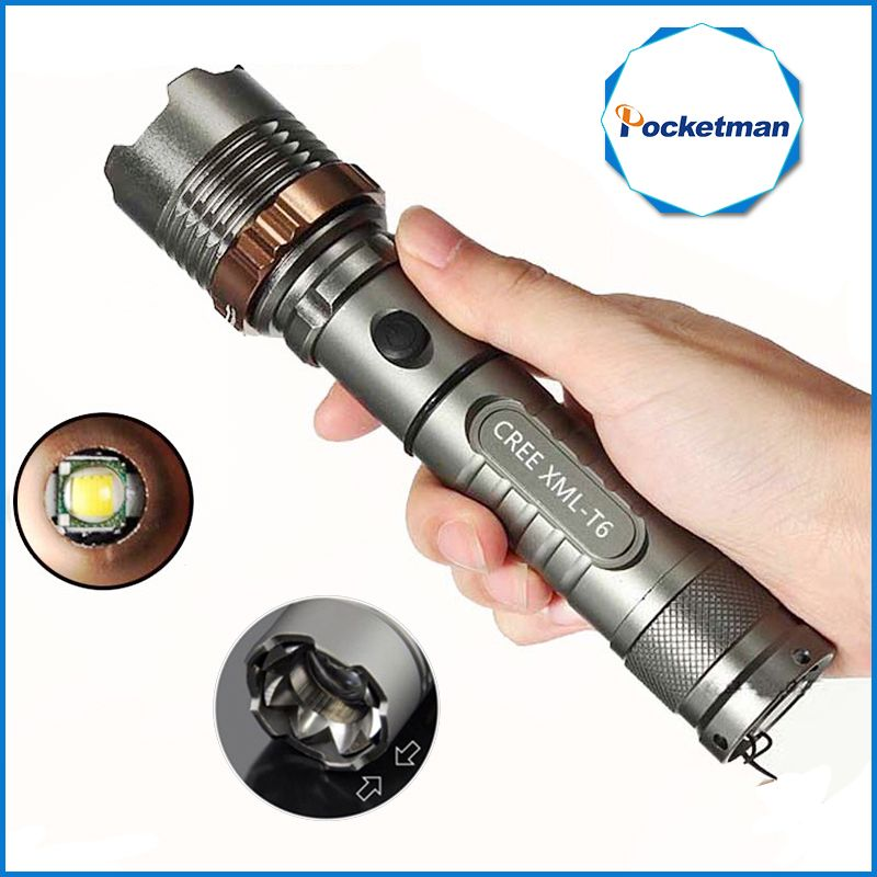 3800lm CREE XM-L T6 5modes LED Tactical Flashlight Torch Waterproof Hunting Flash Light Lantern zaklamp taschenlampe torcia