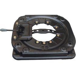 Giratoria de alta resistencia con 4 vías coche tocadiscos autobús RV silla base giratoria Mpv asiento base giratoria