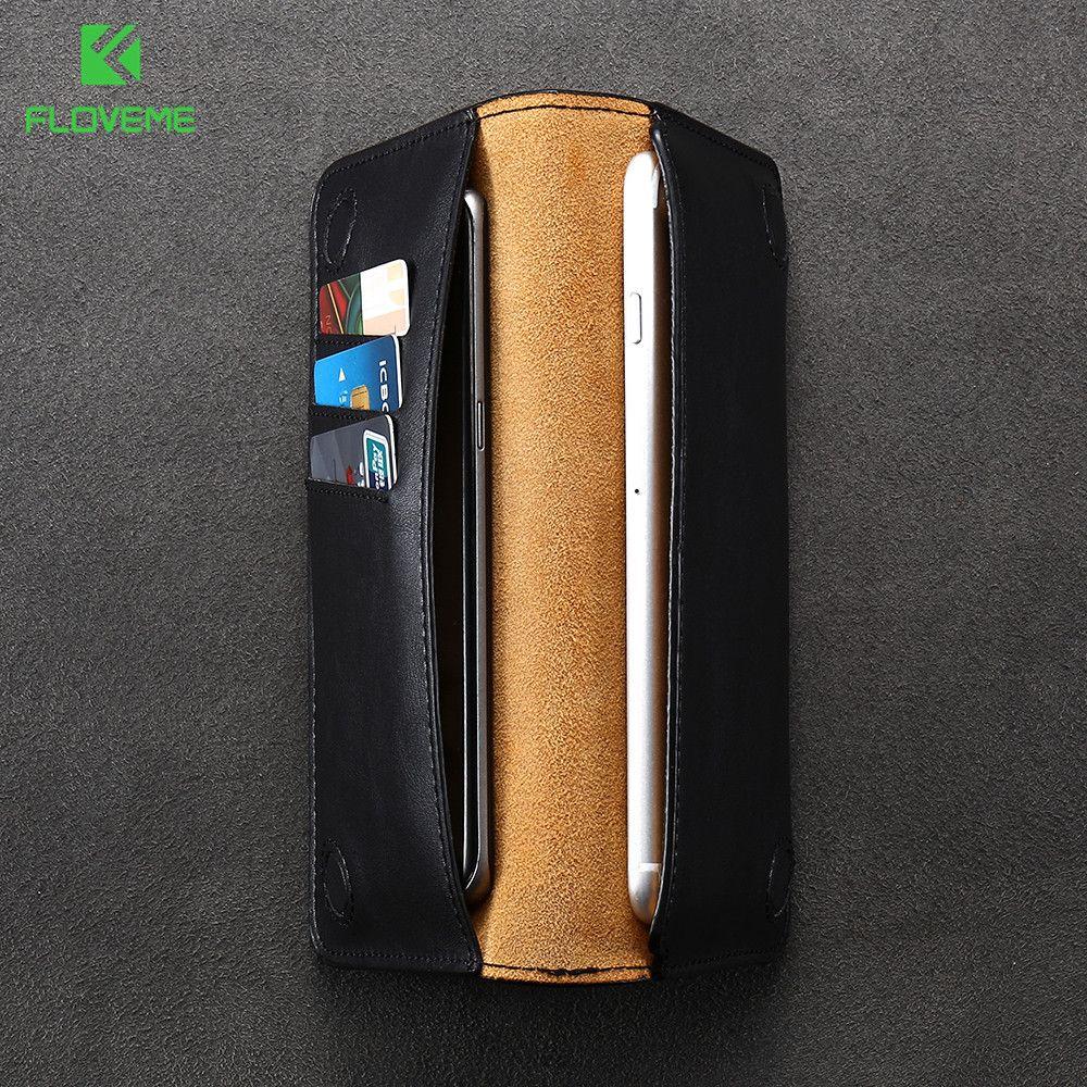 FLOVEME Luxus Ledertasche Für iPhone 7 Plus 6 6 s plus Fall tasche für Samsung S6 S7 S8 rand Für XiaoMi mi5 Abdeckung Brieftasche taschen