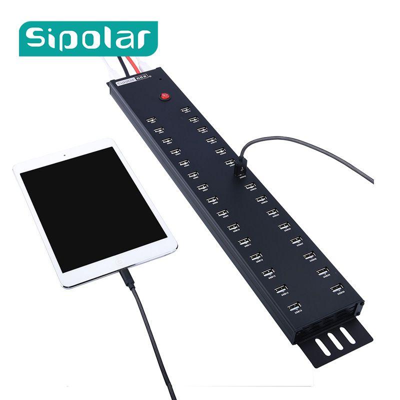 30 port usb lade oder daten übertragen usb2.0 hubs lade stationen lade für 30 iPad mini 4