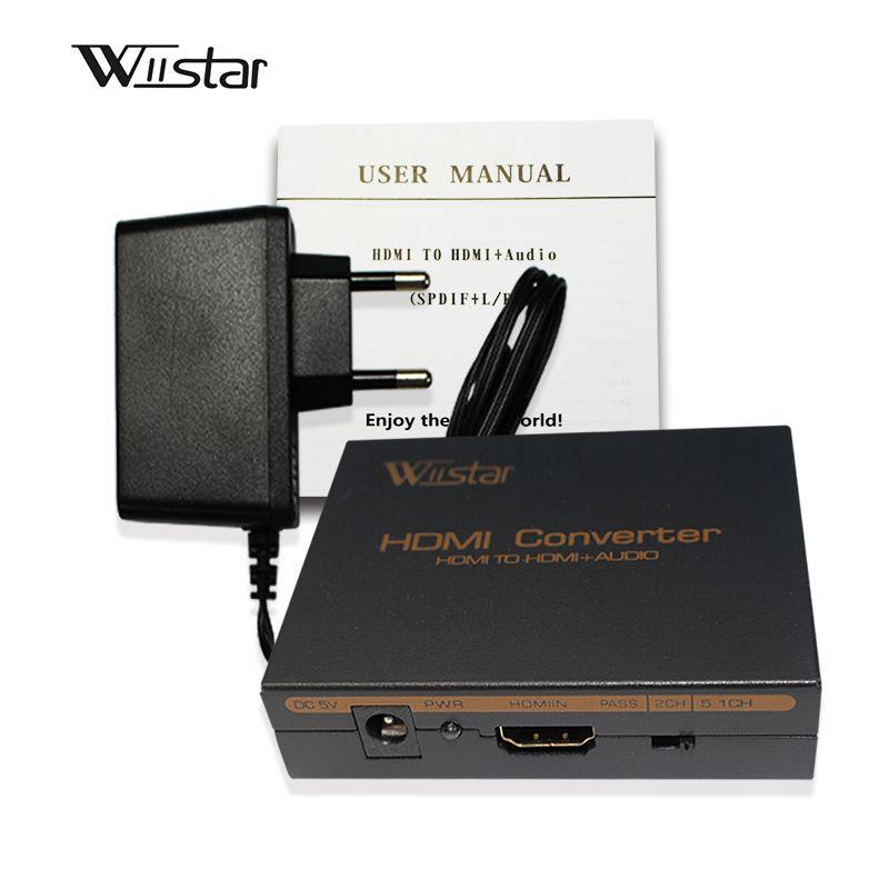 Audio Wiistar hdmi vers hdmi & R/L & spdif avec extracteur audio hdmi 2.1/5.1ch livraison gratuite