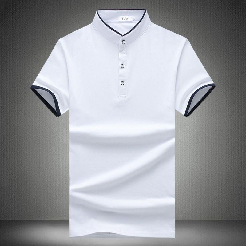 Links ROM Neue 2018 Sommer Herrenmode Boutique Baumwolle Kragen Kurze Hülsenpolohemd/Big Size Slim Männlichen Beiläufigen POLO Shirts