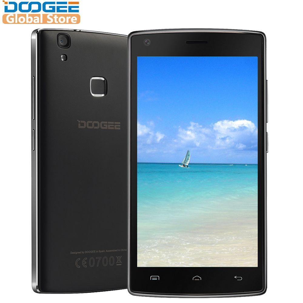 DOOGEE X5 Max pro D'empreintes Digitales mobile téléphones 5.0 Pouces HD Android6.0 Double SIM MTK6737 Quad Core 4000 mah WCDMA LTE GPS