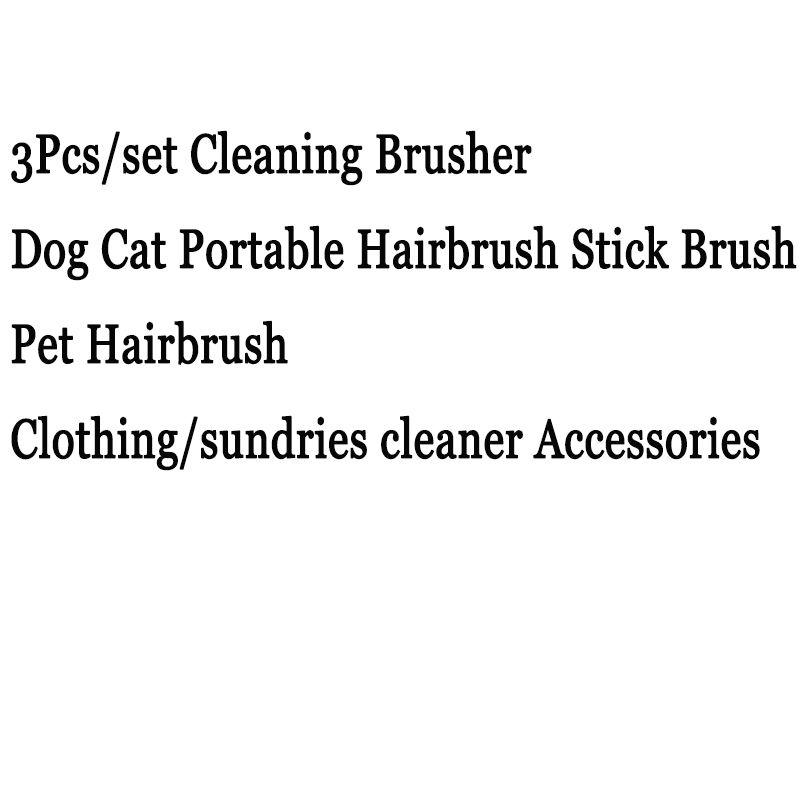 3Pcs/set Cleaning Brusher Pet Dog Cat Portable Hairbrush Stick Brush Pet Hairbrush drop shipping and fast shipping