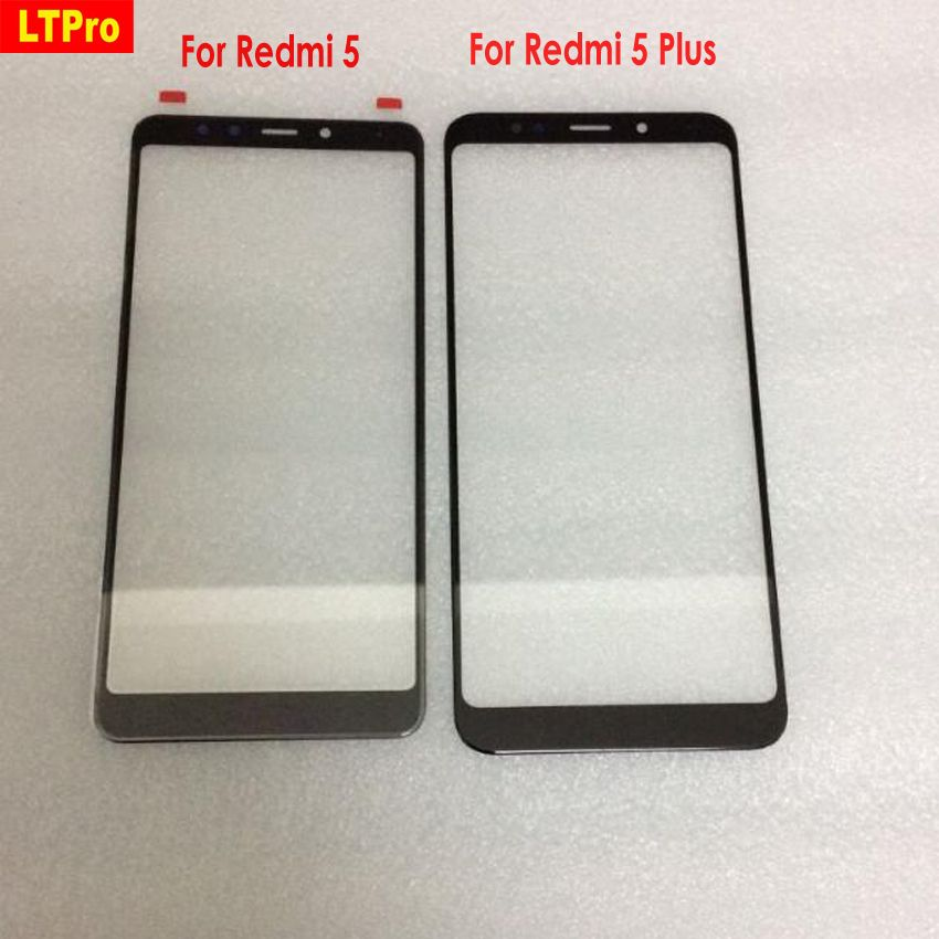 LTPro Good Working Black White Glass Panel Outer Lens Front Touch Screen For Xiaomi Redmi 5 / Redmi 5 Plus Phone Replacement