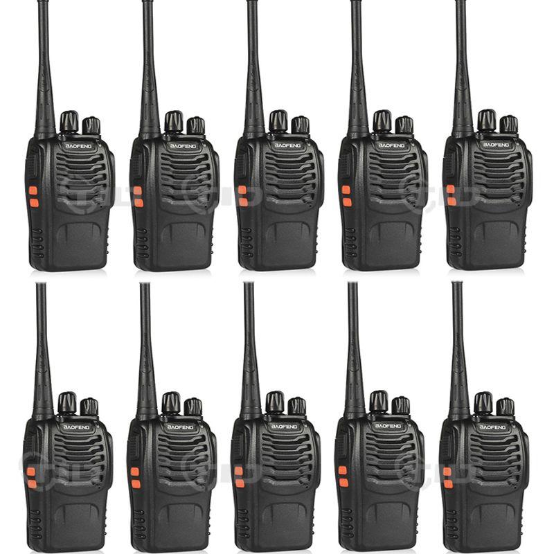 10 pcs baofeng bf-888s Talkie Walkie 16CH UHF 400-470 MHz Ham Radio Pour 888 s CB Radio Deux way Radio
