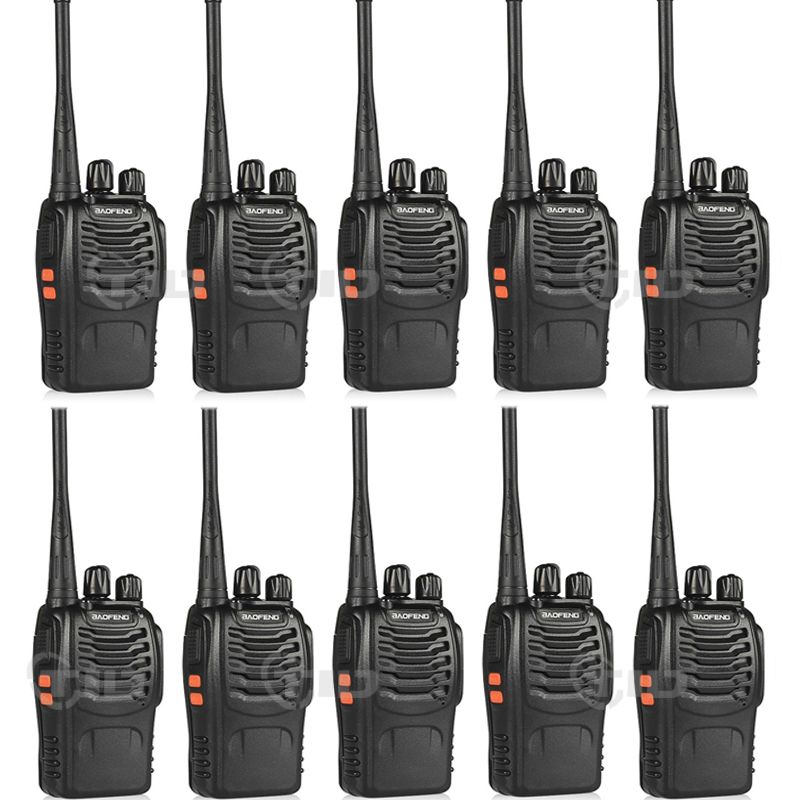 10 pièces baofeng bf-888s talkie-walkie 16CH UHF 400-470 MHz Radio jambon pour 888 s CB Radio bidirectionnelle