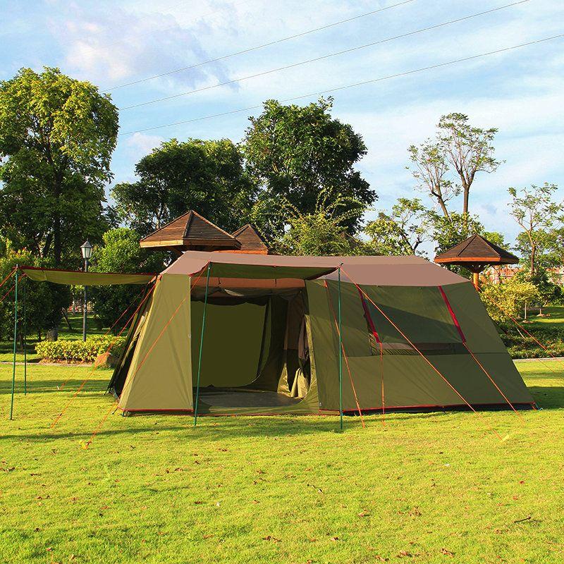 Außen zwei zimmer einer halle 5-8 personen zelt doppelschicht großen raum familie zelte hochwertige wasserdichte camping zelt