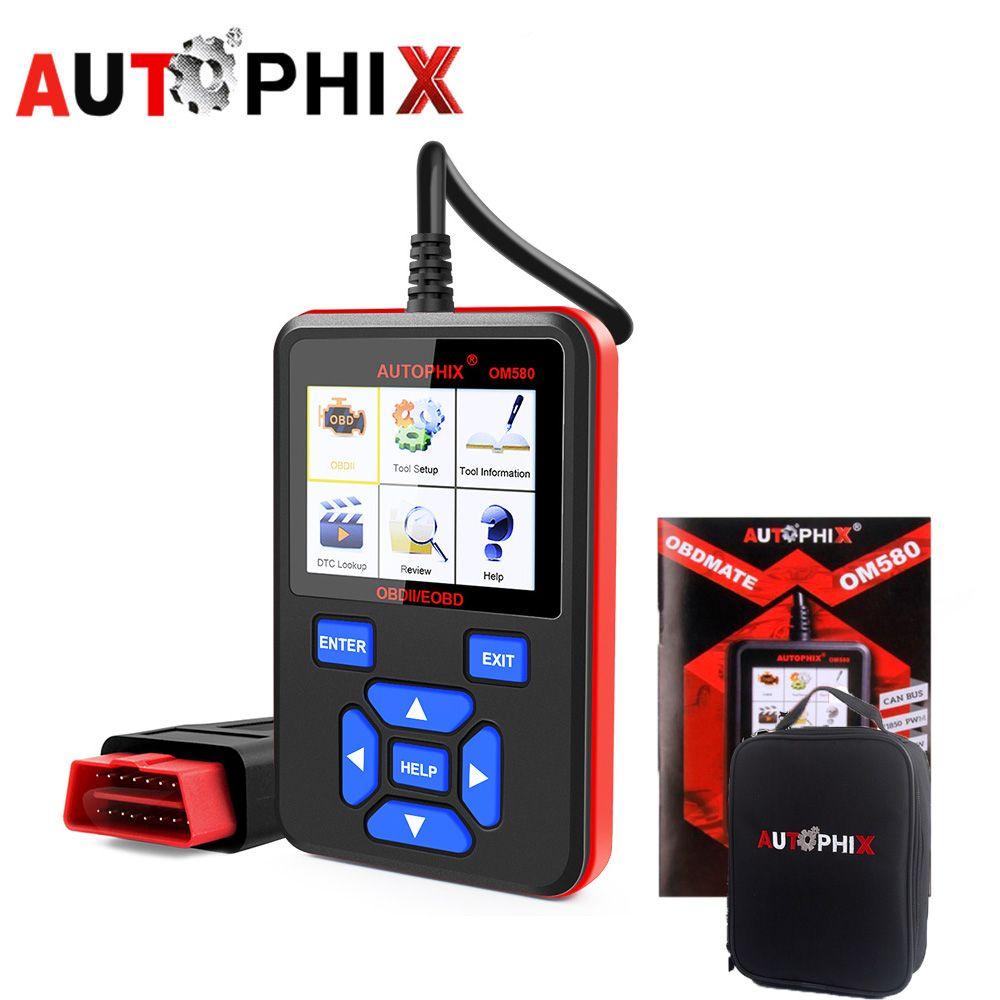 Autophix OM580 Obd2 Scanner Auto Automotive Scan Tools Engine DSC Fault Diagnostic Tool o2 Sensor Evap System Test Odb2 Adapter