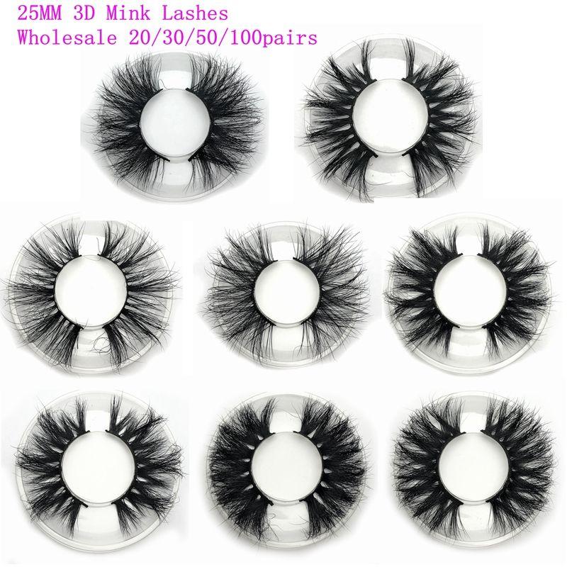 Mikiwi 25mm Nerz Wimpern 20/30/50 Großhandel 3D Nerz Wimpern runde fall kunden verpackung Label Make-Up dramatische Lange Nerz Wimpern