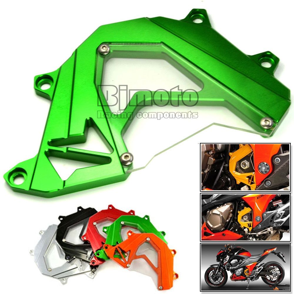BJMOTO For Kawasaki Z750 Z800 2013-2016 Motorcycle Front Sprocket Cover Panel Left Engine Guard Chain Cover Protection
