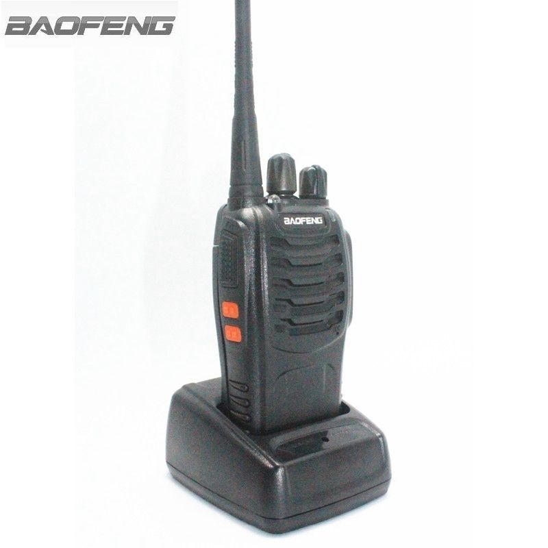 BaoFeng BF-888S Walkie Talkie Black 3W UHF 400-470MHz Frequency Portable Radio Set Ham Radio Hf Tran With Earpiece