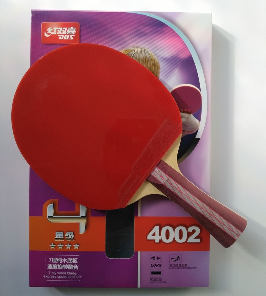 Original DHS 4002 4006 <font><b>table</b></font> tennis racket with 4 stars pimples in rubbers fast attack loop DHS racquet sports ping pong paddles