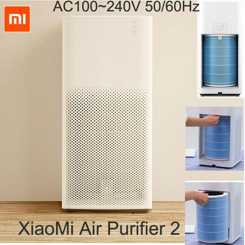 Original XIAOMI Air Purifier 2 Intelligent Wireless Smartphone Control Smoke Dust Peculiar Smell Cleaner Household Appliances