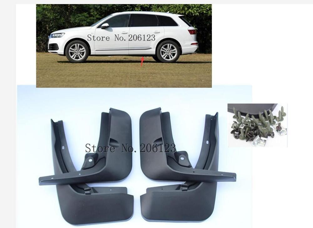 Auto Vorne Hinten Kotflügel Für 2016 2017 2018 2019 für Audi Q7 S-linie Schlamm Klappen Zubehör Splash Schutz kotflügel 1 Set/4 Pcs Schmutzfänger