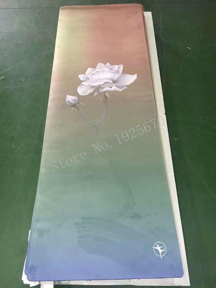 Lotus pattern Folding Natural Rubber Yoga Mat eco-friendly slip-resistant Hot Yoga best yoga mat for hot yoga Fitness Gym mat