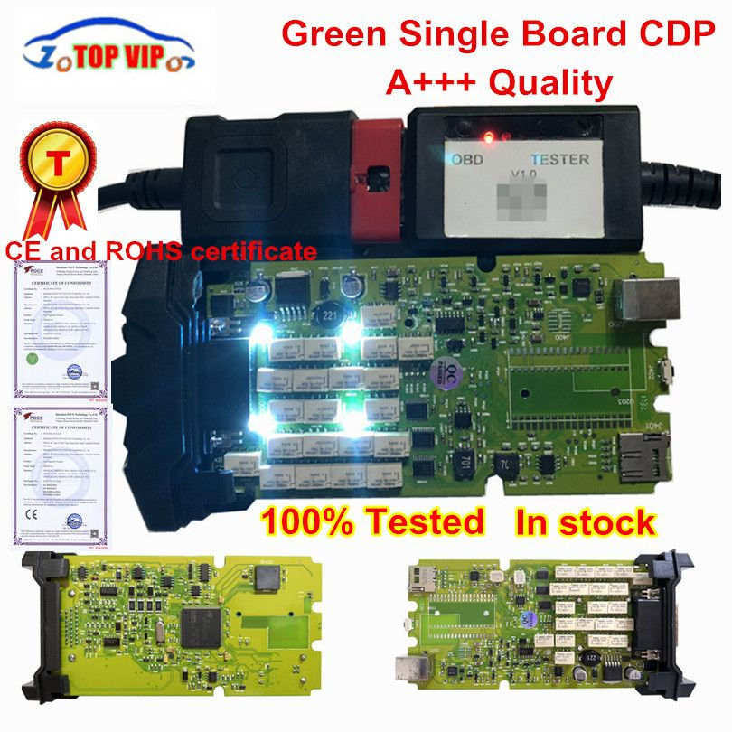 Best Quality TCS CDP Pro Newest 2015 r3 with keygen Single Green board CDP with Bluetooth Diagnostic Scanner for cars&Trucks