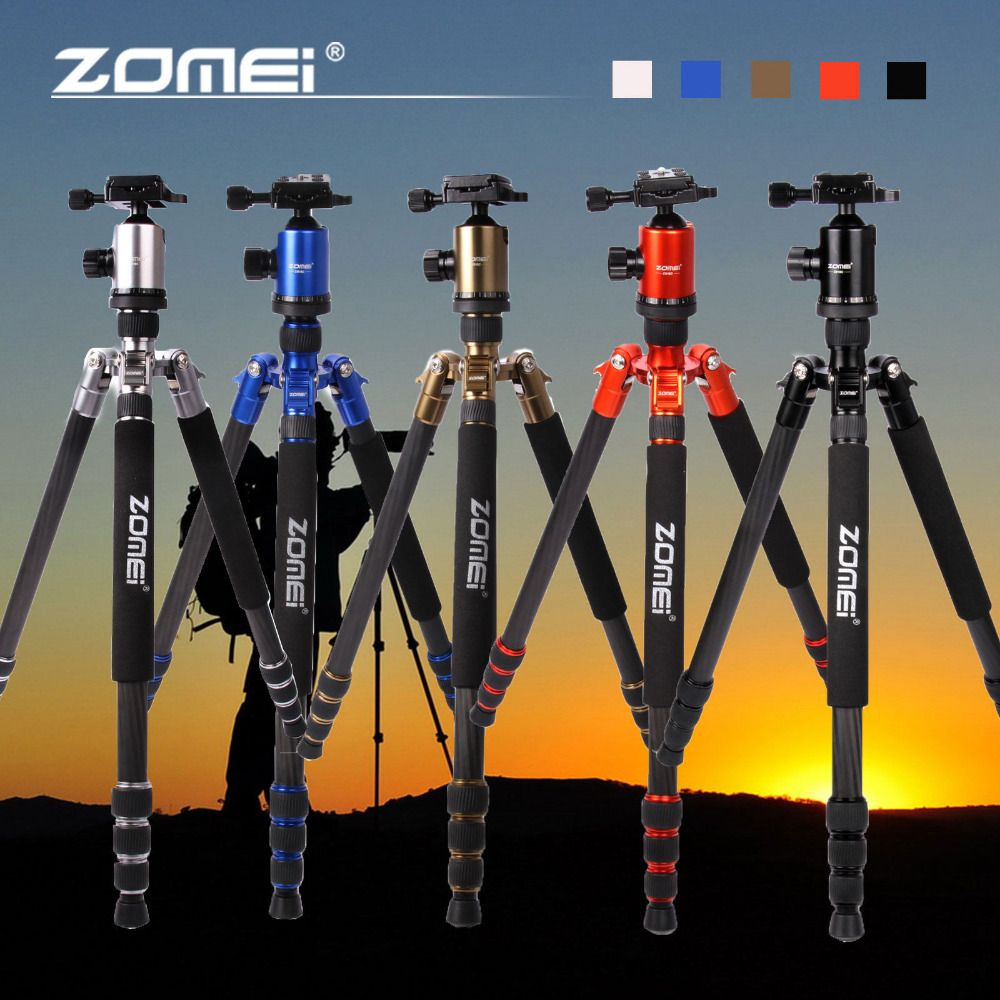 Zomei Z818C Carbon fiber Professional Travel Portable Camera Tripod Ball Head Tripod Stand for Canon Nikon SLR DSLR camera