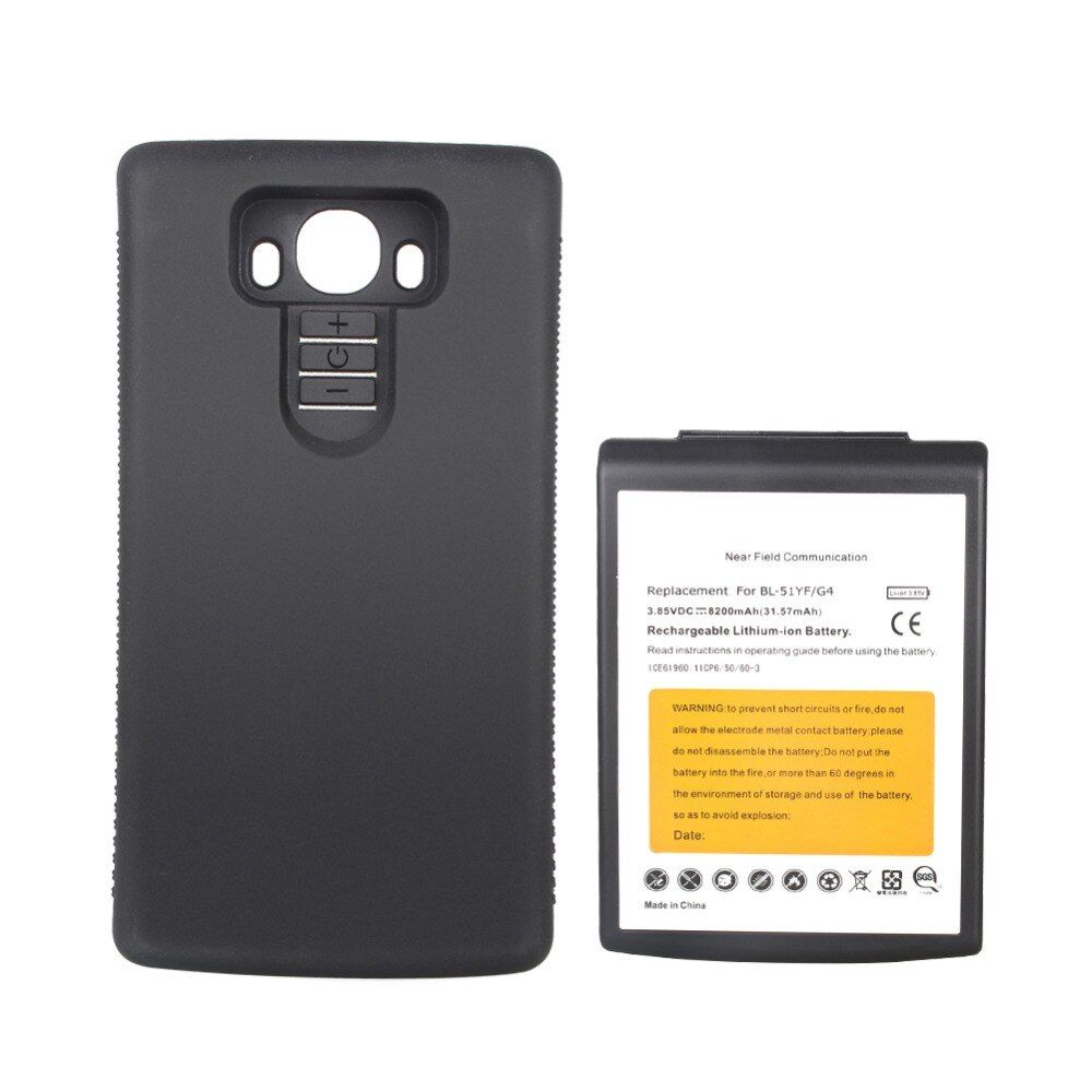 High Capacity 8200mAh Replacement Extended Battery For LG G4 BL-51YF With Black Protective Case For LG G4 Bateria Hot Sale