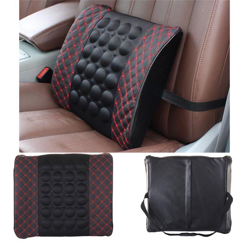 New Car Lumbar Support Pillow 12V Electric Massage Lumbar Pillow Car Seat Back Relaxation Waist Support Cushion Pillow