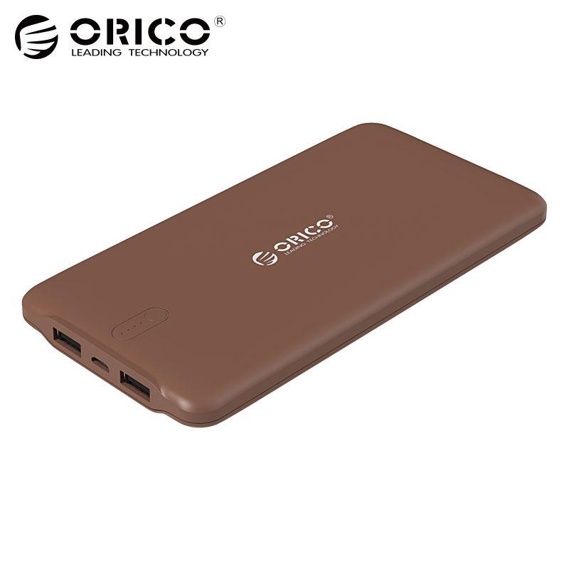 ORICO 10000 mah Power Bank Double USB Externe Li-polymère Batterie 2.4A Puissance Banque D'identification À Puce Chargeur Universel