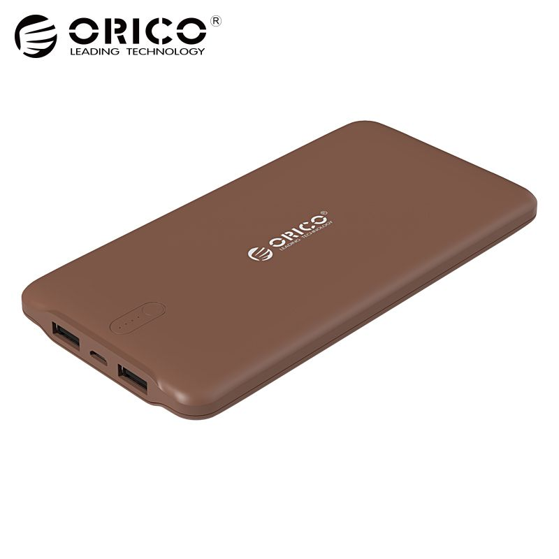 ORICO 10000mAh Power Bank Dual USB External Li-polymer <font><b>Battery</b></font> 2.4A Power Bank Smart Identification Charger Universal