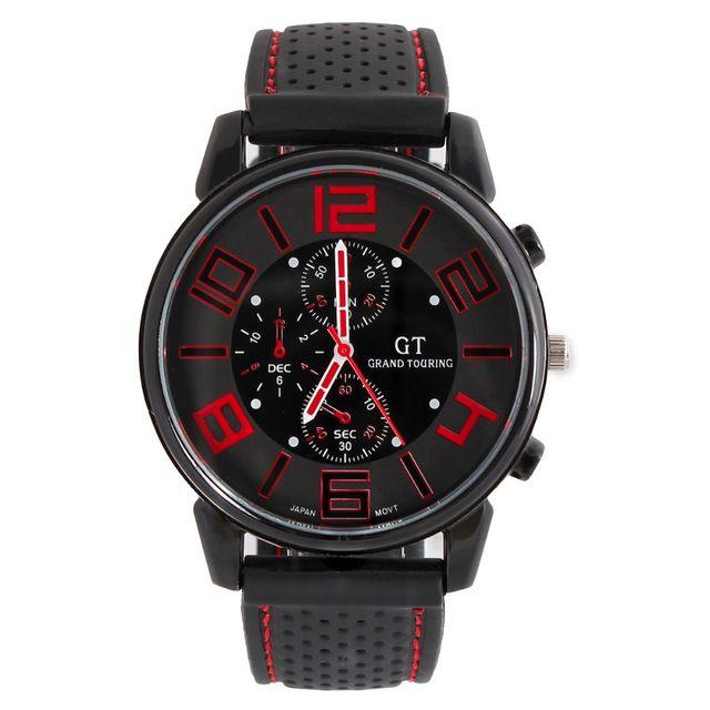 Top marca xfcs GT F1 carreras de coches gran dial deporte de los hombres relojes banda de silicona de cuarzo Militar reloj del mens fashion casual Relogio