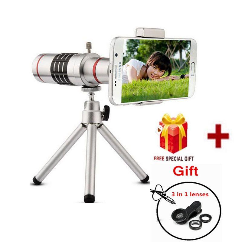 2017 Phone Camera Lenses Kit 18x Zoom Optical Telescope Lentes Telephoto Lens With Tripod For HUAWEI P9 P10 PLUS Honor 8 9 mate9