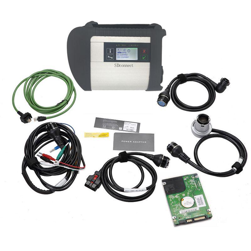 V2018.03 mehrsprachige software HDD MB-STERN C4 MB SD Schließen Kompakte 4 Diagnosewerkzeug mit WIFI Funktion für mb autos und lkw