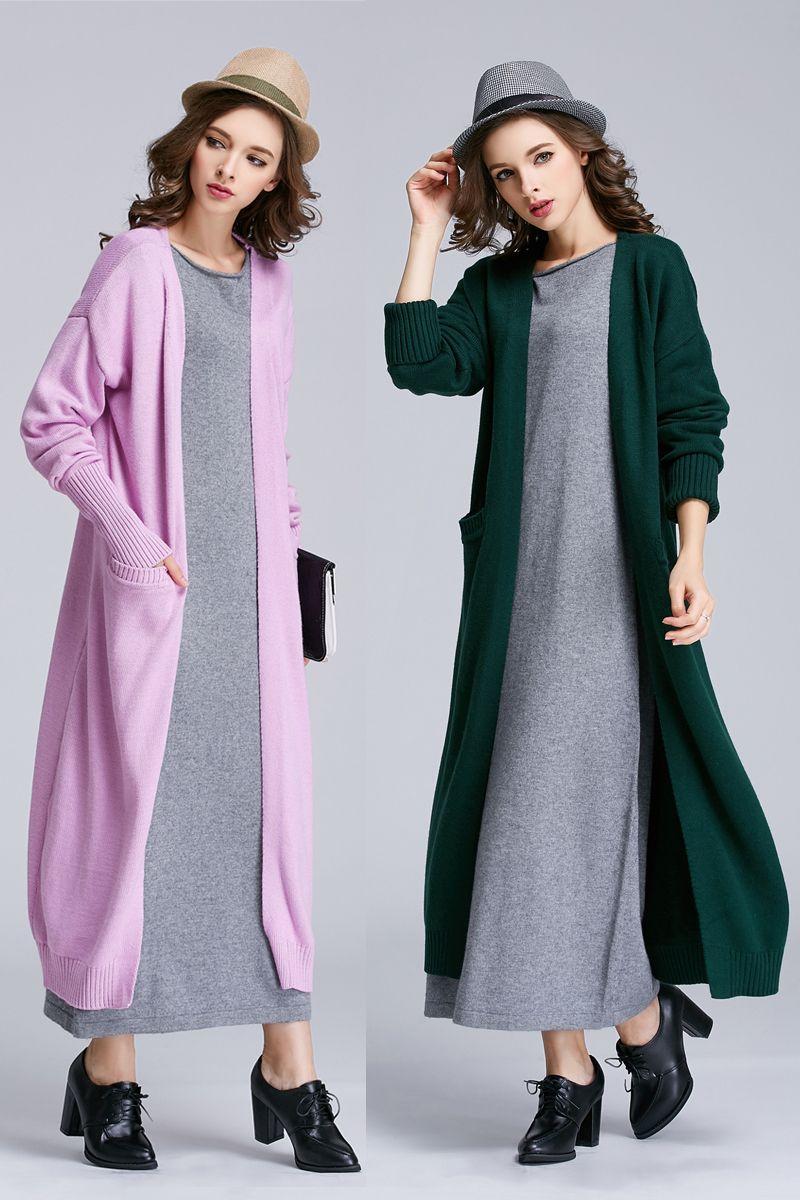 2018 New Hot Sale Cashmere Cardigan Knit Sweater Autumn Women Fashion V-Neck Shirt Slim Version Female Fur Long