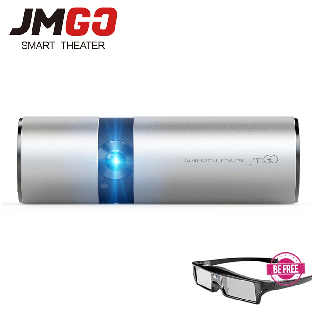 JMGO P2 Portable LED Projector 250 ANSI Lumens, Built-in 15600mAh Lithium Battery Android HD Projector, WIFI, Bluetooth Speaker