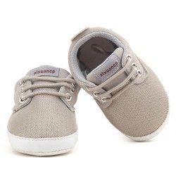 Bebé recién nacido Zapatos Primeros pasos primavera otoño bebé suave sole Zapatos lona infantiles Patucos 0-18 meses
