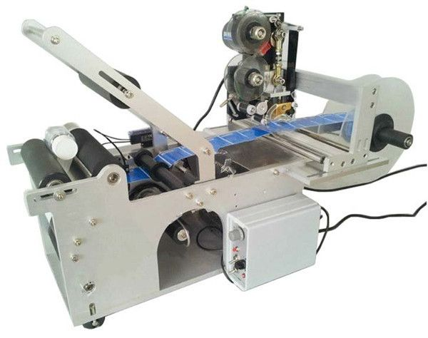 High Quality Semi-Automatic Round Jar labeling Machine With Date Code Printer