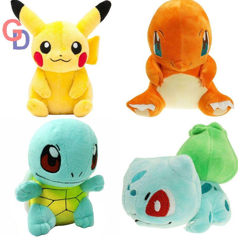 20 cm pikachu En Peluche Jouet Rondoudou Poliwhirl Charmander Gengar jouets de couchage oreiller Poupée Pour Enfant bébé d'anniversaire cadeaux Anime Doux