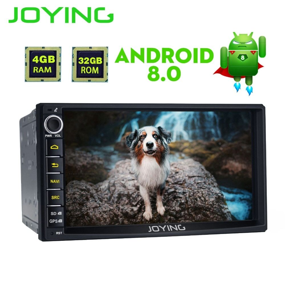 Joying Android 8.0 4GB RAM 8 CORE Universal Double Din New Car Audio Stereo GPS Bluetooth Radio Automotive Multimedia Player