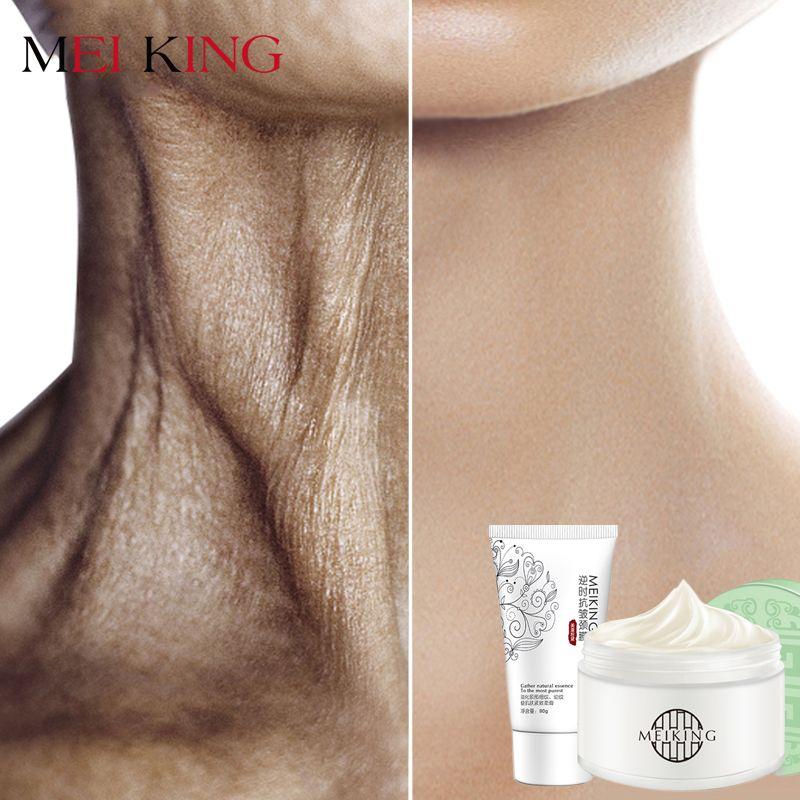 MEIKING Hals Maske Hals Creme Hautpflege Anti falten Bleaching Feuchtigkeits Pflegende Straffende Hals Pflege Set Hautpflege Set 180g