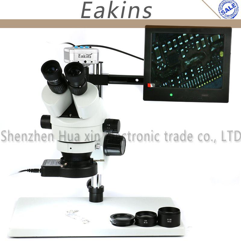 3.5X-90X Zoom Simul Focal Trinocular Stereo Microscope 16MP HDMI USB Microscope Camera 144pcs Ring Microscopio Illumination
