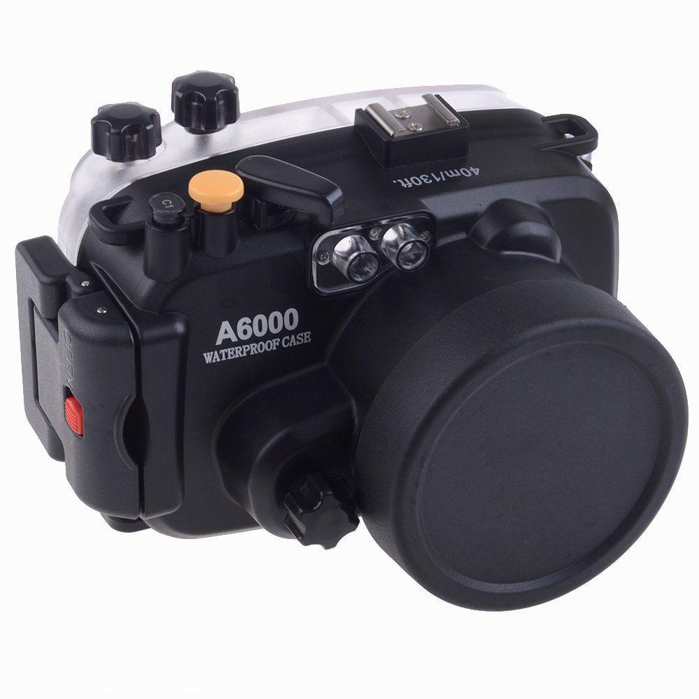 Meikon 40 mt Wasserdichte Unterwasser Kamera Gehäuse Case Tasche für Sony A6000 Kamera