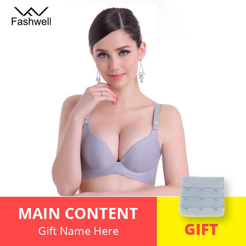 Nouveau mode dame solide Bras femmes Push Up soutien-gorge profond V Sexy brassière sous-vêtements sans couture fil libre Bras pour les femmes
