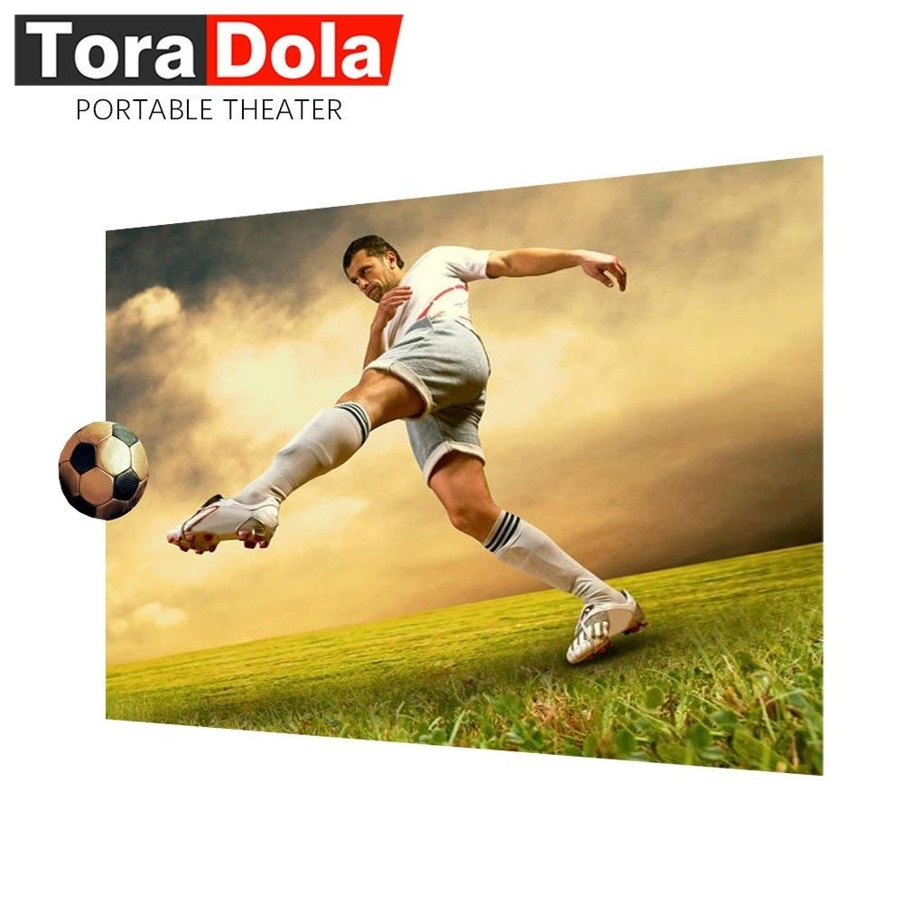 TORA DOLA Anti-light Projector Screen, 60/100 inch Brightness Enhancement 16:9 Screen for Home Cinema, Projector.
