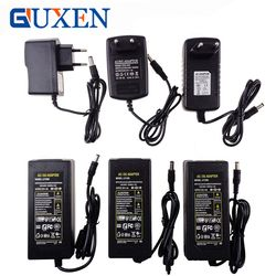 GUXEN Power Adapter Supply For Led Flexible Tape Light AC110-220V to DC12V 1A 2A 3A 4A 5A 6A EU/US/UK/AU Cord Plug