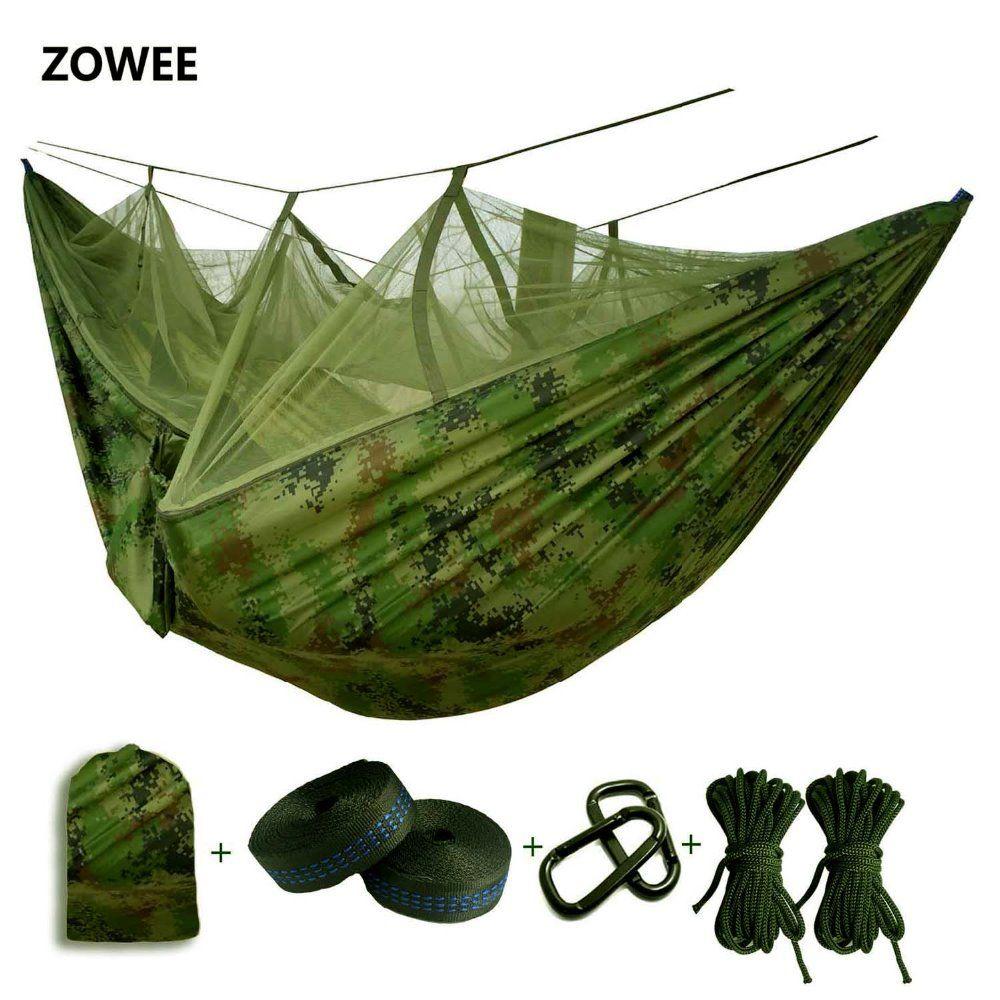 Hamac Parachute ultra-léger moustiquaire avec piqûres anti-moustiques pour tente de Camping en plein air en utilisant le sommeil livraison gratuite