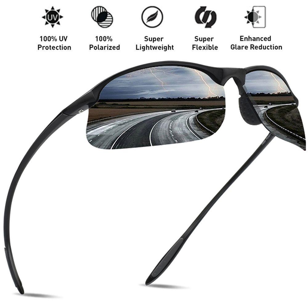 JULI Brand Classic Polarized Sunglasses Men Women Driving TR90 Frame Male Sun Glasses Fishing Sports Goggles UV400 Gafas MJ8002