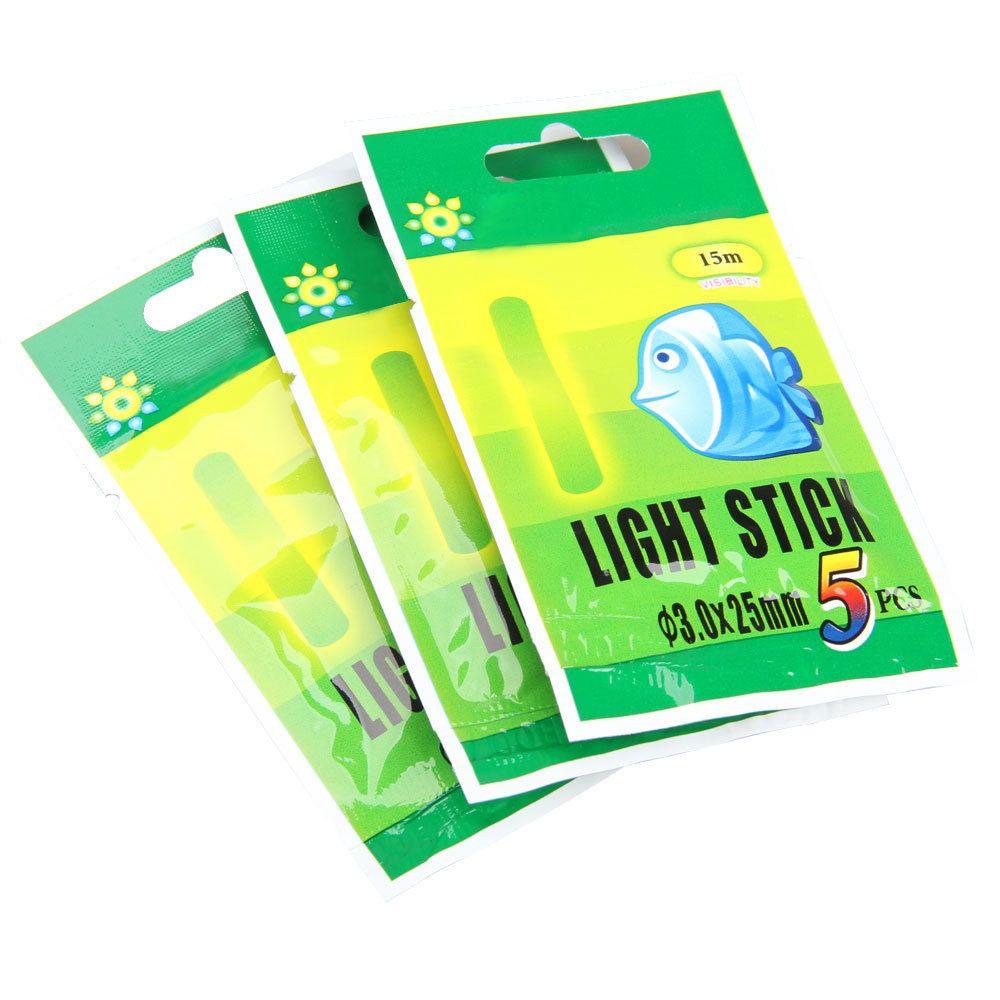 50 Stücke Angeln Fluoreszierende Leucht Angeln Zubehör Fluorescent Chemische Leucht Leuchtstäbe Tools Grün 3X25mm