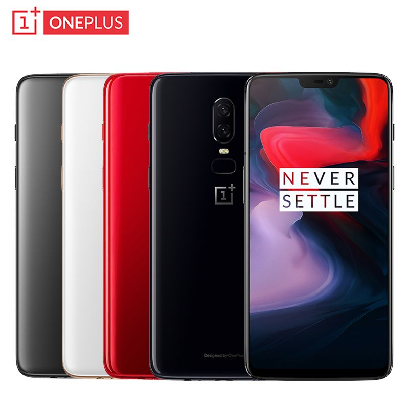 OnePlus 6 Waterproof Phone 6.28inch RAM 6/8GB ROM 64/128/256GB Snapdragon 845 Octa Core Android 8.1 Dual Camera NFC Smartphone