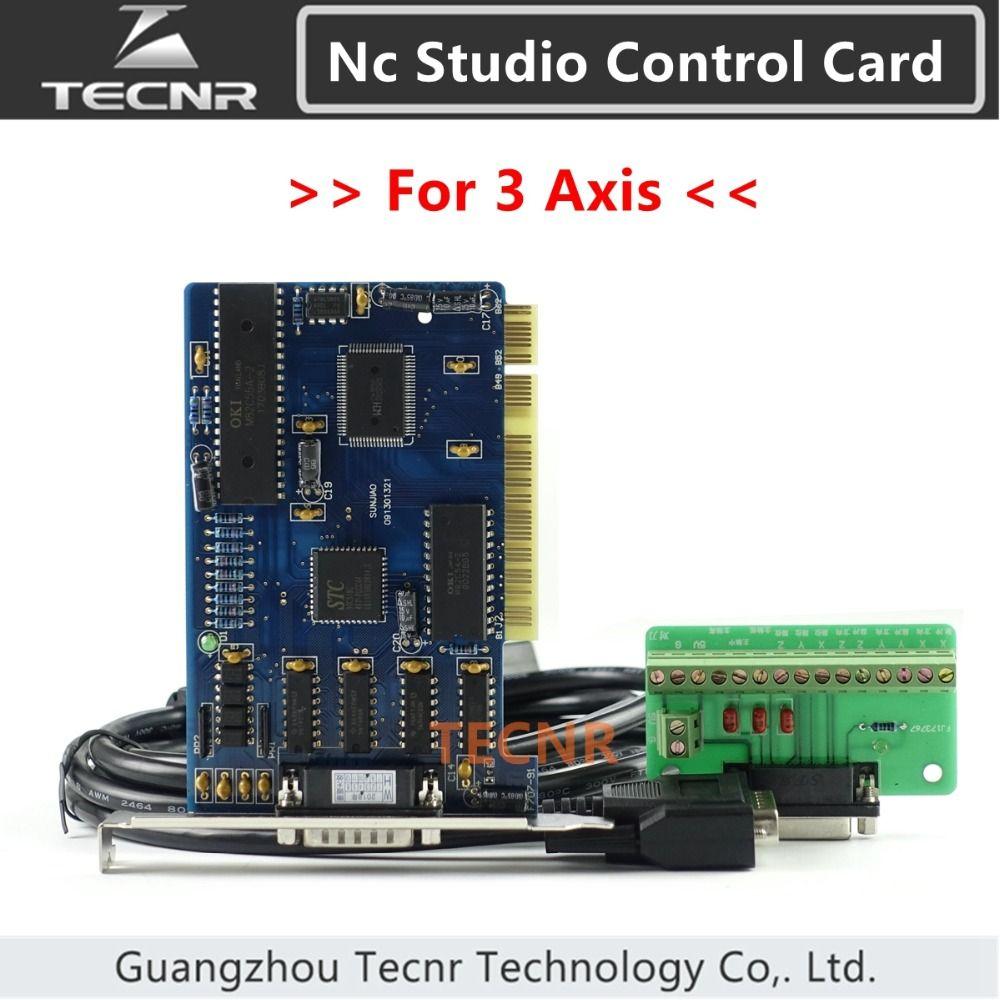 Contrôleur ncstudio système de carte de contrôle 3 axes nc studio pour routeur CNC 5.4.49/5.5.55/5.5.60 version anglaise