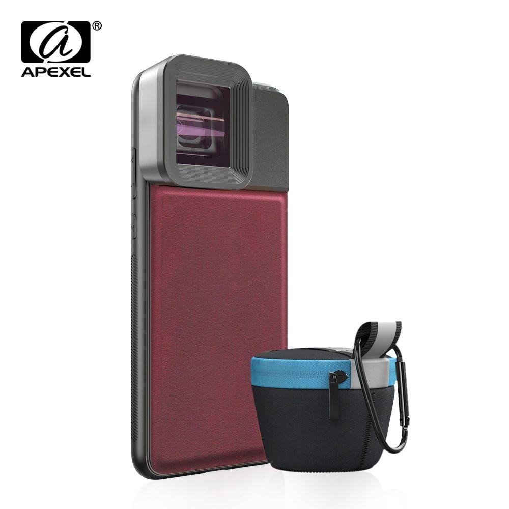 APEXEL HD professionelle moive Objektiv 1.33x WideScreen anamorph objektiv Video Telefon kamera Linsen für Vlog iPhone Huawei smartphones